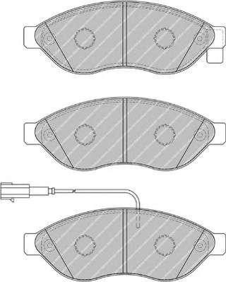 Запчасть FVR1924 FERODO Колодки гальмівні дискові фото