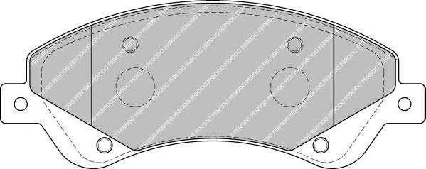 Запчасть FVR1929 FERODO Тормозные колодки дисковые фото