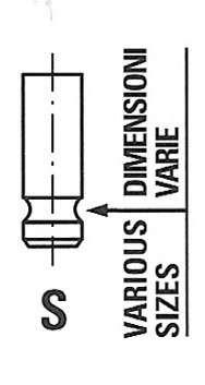 Запчасть R6530/SNT FRECCIA Клапан впускний NISSAN 6530/SNT IN. фото
