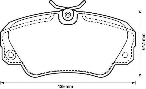 Запчасть 571493J JURID Колодка торм. диск. OPEL OMEGA B передн. (пр-во Jurid) фото