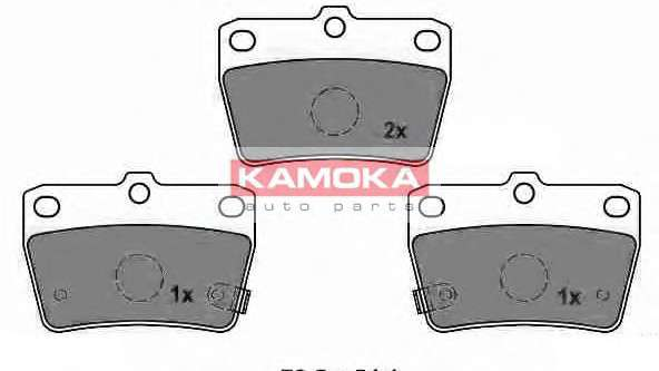 Запчасть JQ1013062 KAMOKA Колодка тормозная Toyota RAV 4 II 01'-> задн. фото