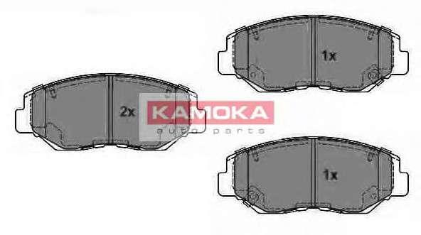 Запчасть JQ1013316 KAMOKA Колодка тормозная Honda CR-V II 02'-> перед. фото
