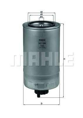 Запчасть kc186 knecht Топливный фильтр
