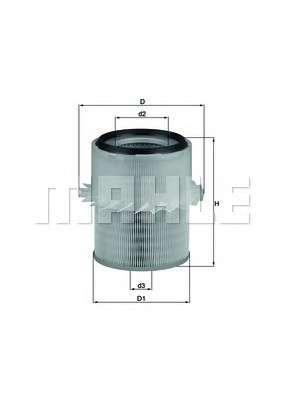 Запчасть LX673 KNECHT Повітряний фільтр фото