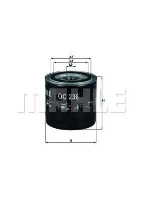 Запчасть oc236 knecht Масляный фильтр