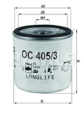Запчасть OC405/3 KNECHT Фильтр масляный двигателя OPEL ASTRA G, H, VECTRA C 1.4-2.0 98- (пр-во KNECHT-MAHLE) фото
