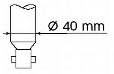 Запчасть 551810 KYB Амортизатор подв. RENAULT KANGOO задн. Gas-A-Just (пр-во Kayaba) фото