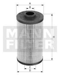 Запчасть hd504 mannfilter Фильтр, Гидравлическая система привода рабочего оборудования