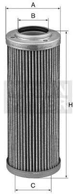 Запчасть hd8821 mannfilter Фильтр, Гидравлическая система привода рабочего оборудования