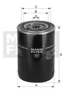 Запчасть w1020 mannfilter Масляный фильтр