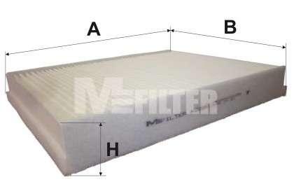 Запчасть K9095 M-FILTER Фильтр салона FORD FOCUS III, KUGA II 11- (пр-во M-FILTER) фото