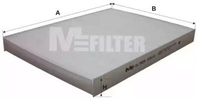 Запчасть K910 M-FILTER Фильтр салона AUDI, SKODA, VW (пр-во M-Filter) фото