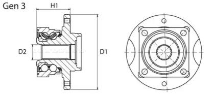 Комплект подшипника ступицы колеса opwb11091 moog