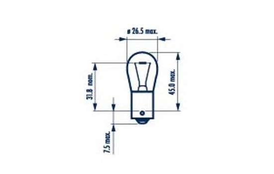 Запчасть 17635 narva Лампа накаливания, фонарь указателя поворота; Лампа накаливания, основная фара; Лампа накаливания, фонарь сигнала торможения; Лампа накаливания, фонарь освещения номерного знака; Лампа накаливания, задняя противотуманная фара; Лампа накаливания, фара задн