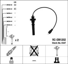 Запчасть 0347 ngk Комплект проводов зажигания