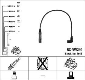 Запчасть 7015 NGK Комплект проводів запалення фото