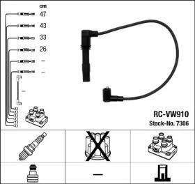 Запчасть 7306 NGK Комплект проводів запалення фото