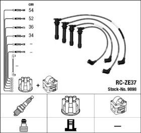 Запчасть 9898 NGK Комплект высоковольтных проводов фото
