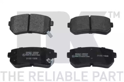 Запчасть 223521 NK Гальмівнi колодки дискові зад. Hyundai Accent I20/I30/Ix35/Sonata/Kia CeeD/Rio/Sportage 1.2-3.3 05- фото