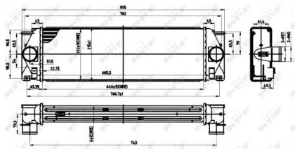 Запчасть 30310 NRF Интеркулер MERCEDES Sprinter 209D 06- (пр-во NRF) фото