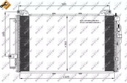 Запчасть 35477 NRF Радиатор кондиционера HYUNDAI MATRIX (FC) (01-)  (пр-во NRF) фото