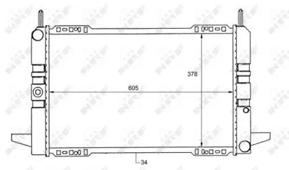 Запчасть 50111 NRF Радиатор охлаждения двигателя FORD Granada 85- (пр-во NRF) фото