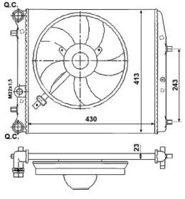 Запчасть 53021 NRF Радиатор системы охлаждения двигателя фото