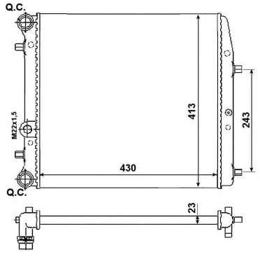 Запчасть 53021A NRF Радиатор системы охлаждения двигателя фото