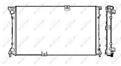 Запчасть 58330 NRF Радиатор системы охлаждения двигателя фото