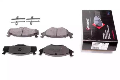 Запчасть prp0493 protechnic Комплект тормозных колодок, дисковый тормоз