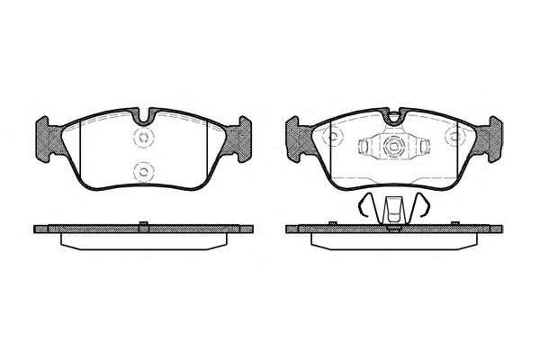 Запчасть 0384.60 REMSA Колодка торм. диск. BMW 1 (E87)(E82)(E88)(09/04-), 3 (E90)(E91)(E92)(E93) передн. (пр-во REMSA) фото