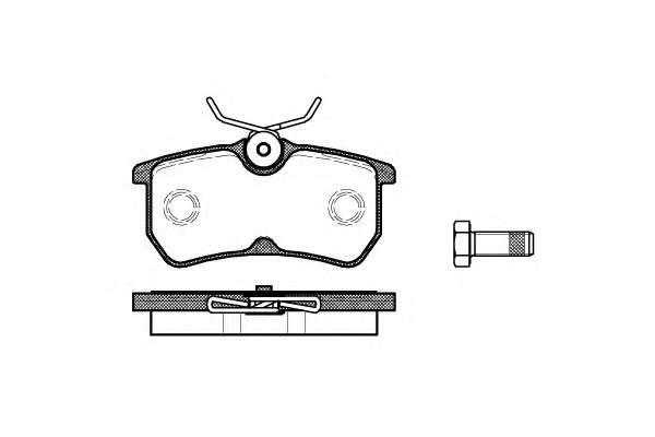Запчасть 069300 remsa Комплект тормозных колодок, дисковый тормоз
