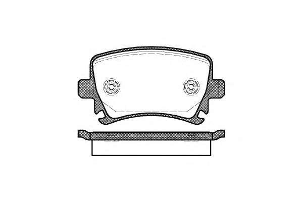 Запчасть 1031.00 REMSA Колодка торм. диск. AUDI A4, SEAT, SKODA,VW задн. (пр-во REMSA) фото