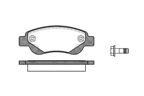 Запчасть 1177.00 REMSA Колодка торм. диск. CITROEN C1, PEUGEOT 107 передн. (пр-во REMSA) фото