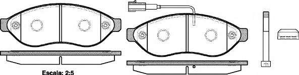 Запчасть 1237.01 REMSA Колодки гальмівні дискові фото