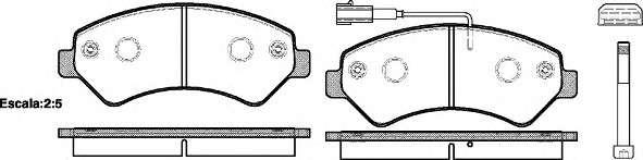 Запчасть 1275.01 REMSA Колодка торм. диск. CITROEN JUMPER 06-, FIAT DUCATO 06-, PEUGEOT BOXER 06- передн. (пр-во REMSA) фото