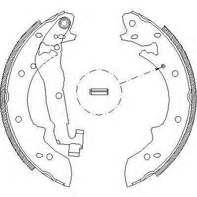 Запчасть 4027.02 REMSA Колодки гальмівні барабанні фото