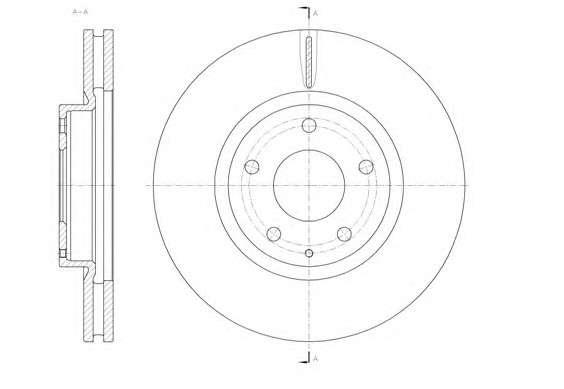 Запчасть 61520.10 REMSA Диск тормозной MAZDA 6 2.0-2.5 2013-, CX-5 2.0-2.2 2011- передн. (пр-во REMSA) фото