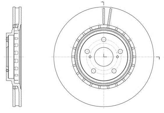 Запчасть 61540.10 REMSA Диск тормозной TOYOTA RAV4 IV 2.0 2.2 2012-,LEXUS RX350 RX450 2008- передн. (пр-во REMSA) фото