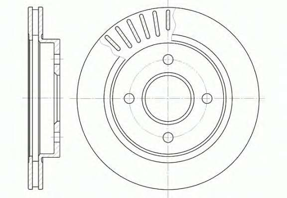 Запчасть 6160.10 REMSA Диск тормозной FORD MONDEO, задн., вент. (пр-во REMSA) фото