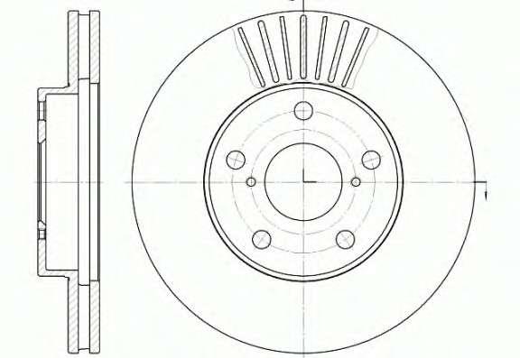 Запчасть 6640.10 REMSA Диск тормозной TOYOTA RAV4 передн., вент. (пр-во REMSA) фото