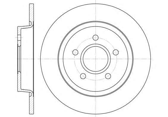 Запчасть 6712.00 REMSA Диск тормозной FORD C-MAX, FOCUS II 11.04, FOCUS III 12.07 задн. (пр-во REMSA) фото