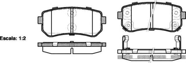 Запчасть 2120902 roadhouse Комплект тормозных колодок, дисковый тормоз