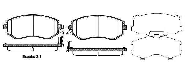 Запчасть 295104 roadhouse Комплект тормозных колодок, дисковый тормоз