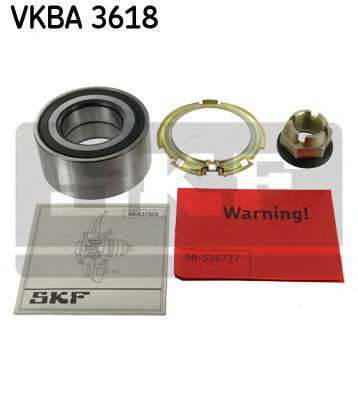 Запчасть VKBA3618 SKF Підшипник ступиці, комплект NISSAN/OPEL/RENAULT Primastar/Vivaro/Trafic \1,9-2,5 \R \01>> фото