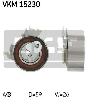 Запчасть VKM 15230 SKF Ролик модуля натягувача ременя фото