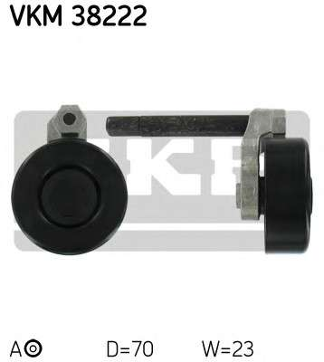 Запчасть VKM 38222 SKF Ролик модуля натягувача ременя фото