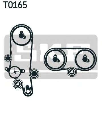 Запчасть VKMC 01121-2 SKF Роликовий модуль натягувача ременя (ролик, ремінь, помпа) фото