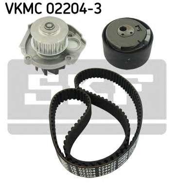 Запчасть VKMC 02204-3 SKF Комплект (ремінь+ролик+помпа) фото