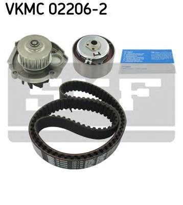 Запчасть VKMC 02206-2 SKF Роликовий модуль натягувача ременя (ролик, ремінь, помпа) фото